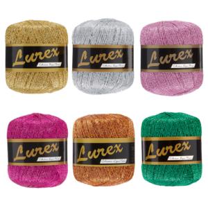 Glimmergarn, lurex